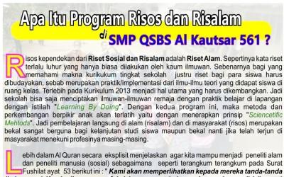 Apa Itu Program Risos dan Risalam di SMP QSBS Al Kautsar 561?