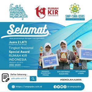 Ikuti Ajang Perlombaan di ASC 2020, QSBS Raih Trofi Gubrenur Jawa Barat