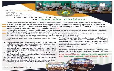 Program Pengabdian Masyarakat : Praktik Leadership Skills dalam Pengabdian Masyarakat SMP QSBS